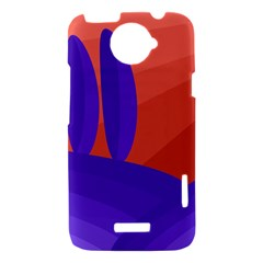 Purple and orange landscape HTC One X Hardshell Case