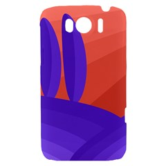 Purple and orange landscape HTC Sensation XL Hardshell Case