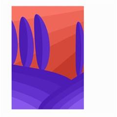 Purple and orange landscape Large Garden Flag (Two Sides)