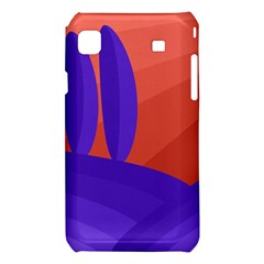 Purple and orange landscape Samsung Galaxy S i9008 Hardshell Case