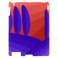 Purple and orange landscape Apple iPad 2 Hardshell Case