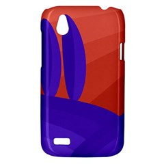 Purple and orange landscape HTC Desire V (T328W) Hardshell Case