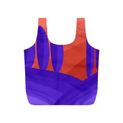 Purple and orange landscape Full Print Recycle Bags (S)