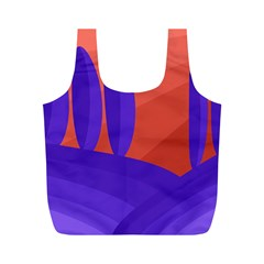 Purple and orange landscape Full Print Recycle Bags (M)