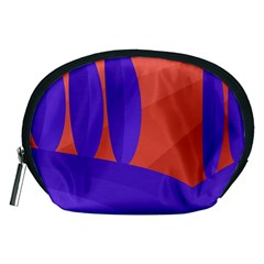 Purple and orange landscape Accessory Pouches (Medium)