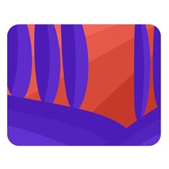 Purple and orange landscape Double Sided Flano Blanket (Large)