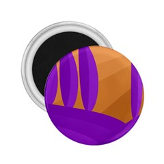 Orange and purple landscape 2.25  Magnets