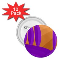 Orange And Purple Landscape 1 75  Buttons (10 Pack)