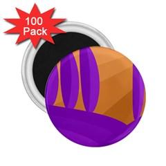 Orange and purple landscape 2.25  Magnets (100 pack)