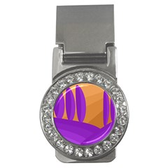 Orange and purple landscape Money Clips (CZ)