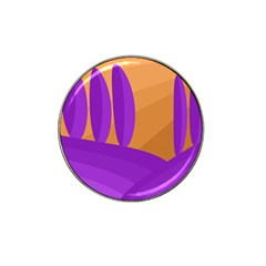 Orange and purple landscape Hat Clip Ball Marker (4 pack)