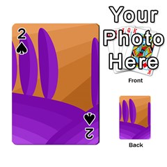 Orange and purple landscape Playing Cards 54 Designs