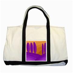 Orange and purple landscape Two Tone Tote Bag