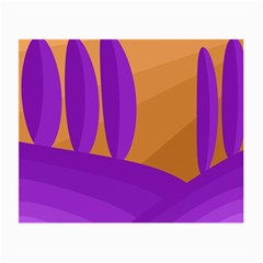Orange and purple landscape Small Glasses Cloth (2-Side)