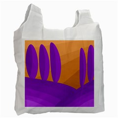 Orange and purple landscape Recycle Bag (One Side)