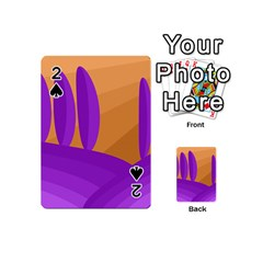 Orange and purple landscape Playing Cards 54 (Mini)