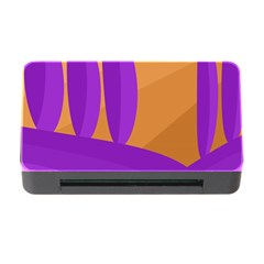 Orange and purple landscape Memory Card Reader with CF