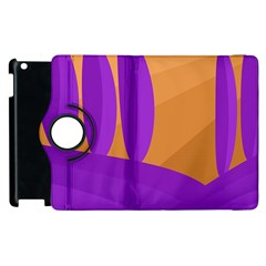 Orange and purple landscape Apple iPad 3/4 Flip 360 Case