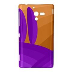 Orange and purple landscape Sony Xperia ZL (L35H)
