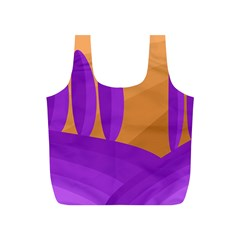 Orange and purple landscape Full Print Recycle Bags (S)