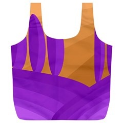 Orange and purple landscape Full Print Recycle Bags (L)
