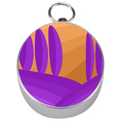Orange and purple landscape Silver Compasses