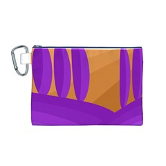 Orange and purple landscape Canvas Cosmetic Bag (M)
