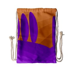 Orange and purple landscape Drawstring Bag (Small)