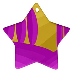 Yellow and magenta landscape Ornament (Star)