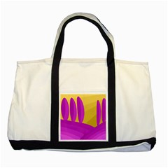 Yellow and magenta landscape Two Tone Tote Bag