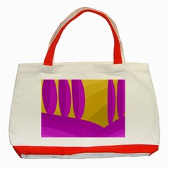 Yellow and magenta landscape Classic Tote Bag (Red)