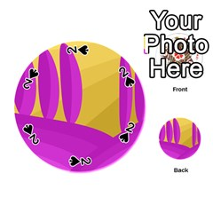 Yellow and magenta landscape Playing Cards 54 (Round)