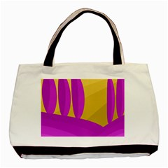 Yellow and magenta landscape Basic Tote Bag (Two Sides)