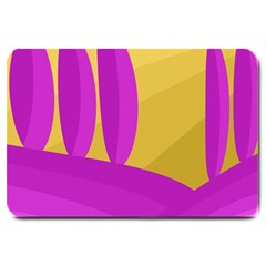 Yellow and magenta landscape Large Doormat