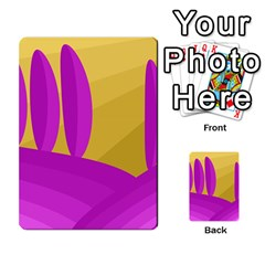 Yellow and magenta landscape Multi-purpose Cards (Rectangle)