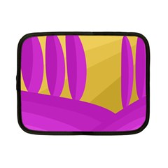 Yellow and magenta landscape Netbook Case (Small)