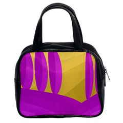 Yellow and magenta landscape Classic Handbags (2 Sides)