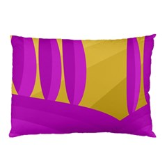 Yellow and magenta landscape Pillow Case