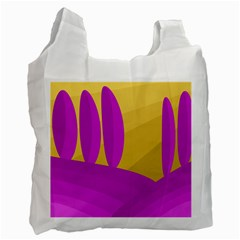 Yellow and magenta landscape Recycle Bag (One Side)