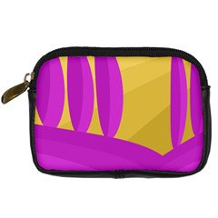 Yellow and magenta landscape Digital Camera Cases