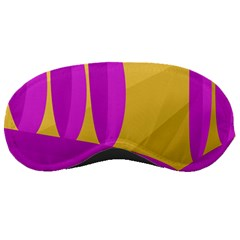 Yellow and magenta landscape Sleeping Masks