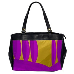 Yellow and magenta landscape Office Handbags