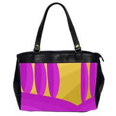 Yellow and magenta landscape Office Handbags (2 Sides)