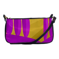 Yellow and magenta landscape Shoulder Clutch Bags