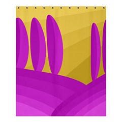 Yellow And Magenta Landscape Shower Curtain 60  X 72  (medium)