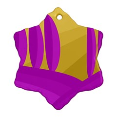 Yellow and magenta landscape Ornament (Snowflake)