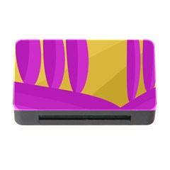 Yellow and magenta landscape Memory Card Reader with CF
