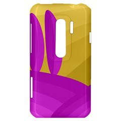 Yellow and magenta landscape HTC Evo 3D Hardshell Case