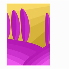 Yellow and magenta landscape Small Garden Flag (Two Sides)
