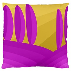 Yellow and magenta landscape Large Cushion Case (Two Sides)